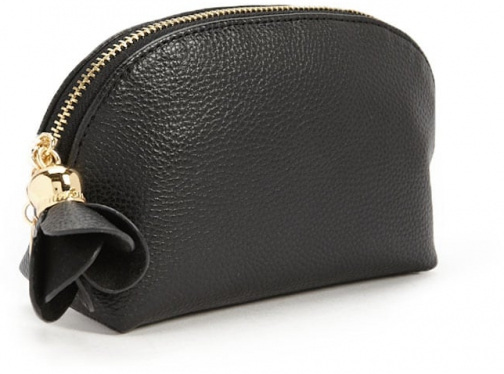 Forever21 Forever 21 Faux Leather Half-Moon Black Pouch
