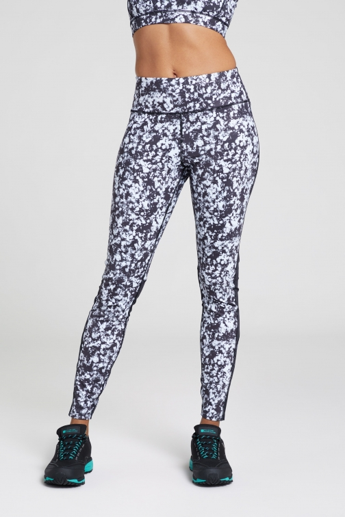 Mountain Warehouse Track Record Womens Patterned - Black Legging