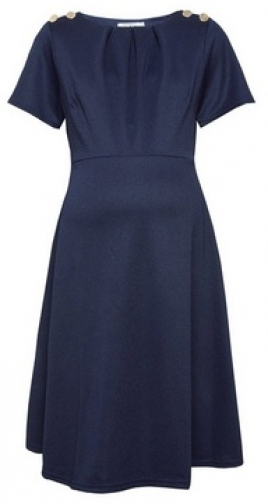 Dorothy Perkins Maternity Navy Button Shoulder Dress