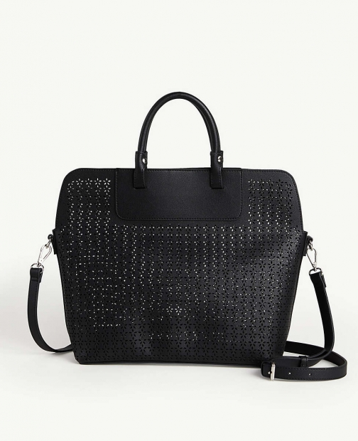 Ann Taylor Perforated Bag Tote