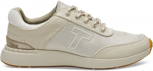 Toms Beige Canvas And Shiny Woven Women's Arroyo Sneakers Shoes Trainer