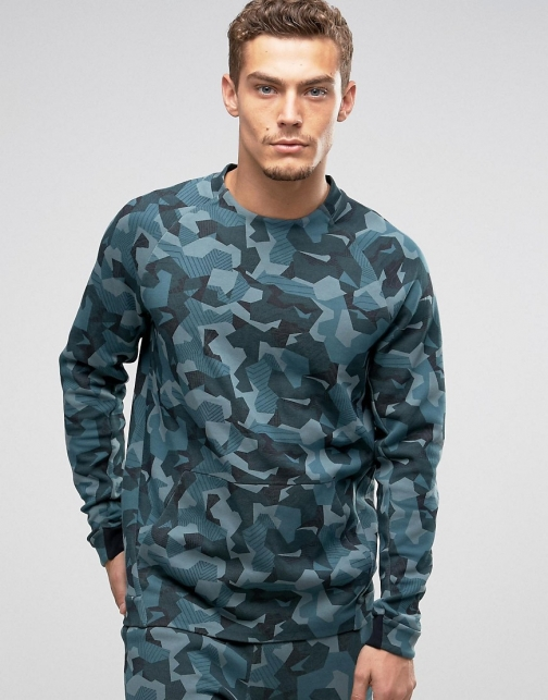 Nike Tech Camo Sweat Green 823501-392 Fleece