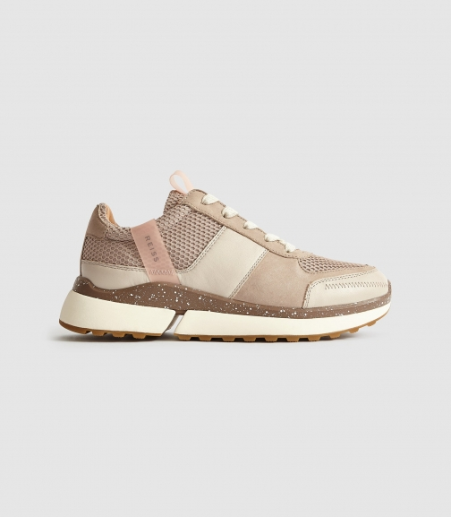 Reiss Ethan - Leather Taupe, Womens, Size 5 Trainer