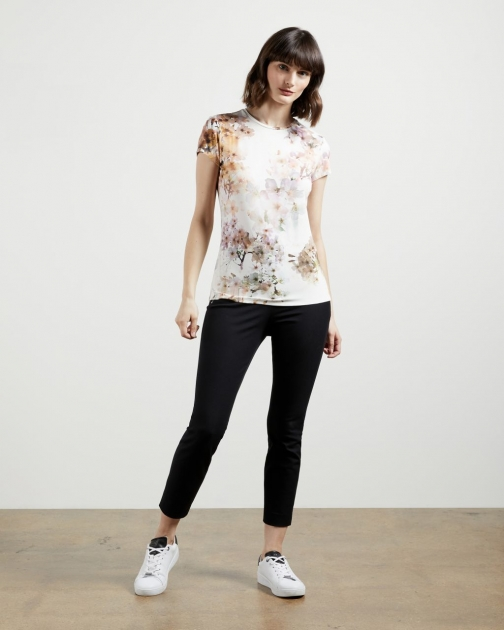Ted Baker Vanilla Fitted T-Shirt