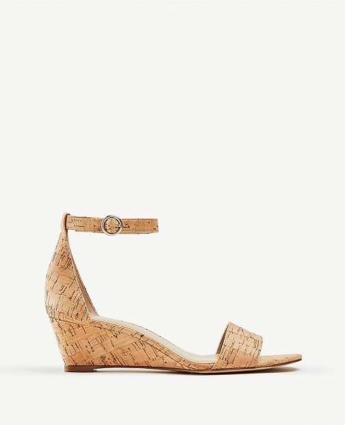 Ann Taylor Giuliana Cork Wedge Sandal