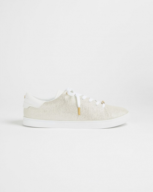 Ted Baker Canvas Slim Sole Trainer