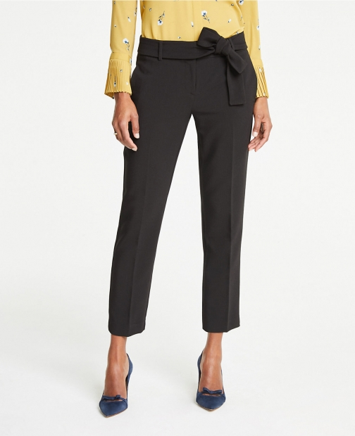 Ann Taylor The Petite Ankle Pant With Waist Tie