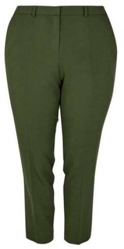 Dorothy Perkins Dp Curve Green Ankle Grazer Trousers Trouser
