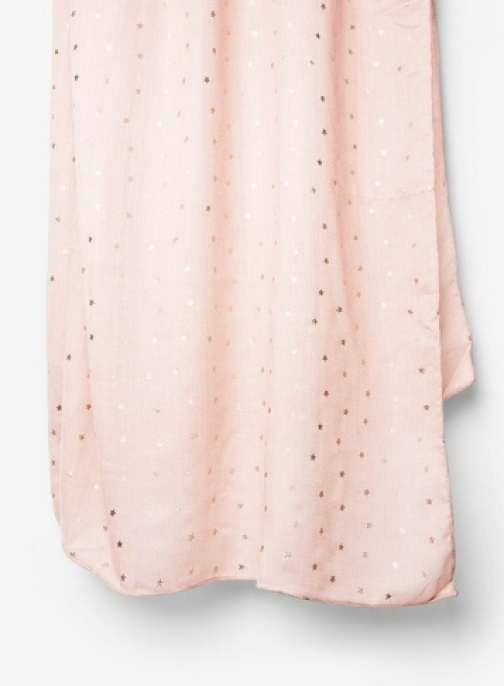 Dorothy Perkins Womens Blush Star Foil - Pink, Pink Scarf