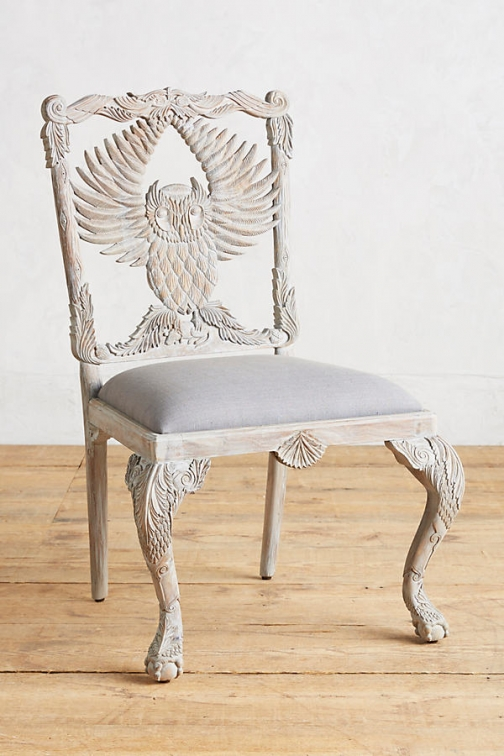 Anthropologie Handcarved Menagerie Armchair - Grey Accessorie