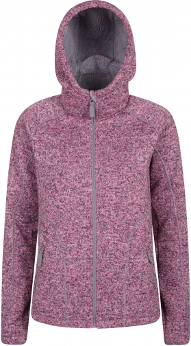 Mountain Warehouse Nevis Womens Fur Lined - Pink Hoodie