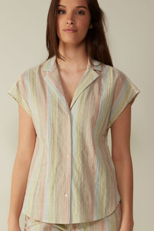 Intimissimi Shabby Chic Cotton Fabric Woman Multicolor Size L Shirt