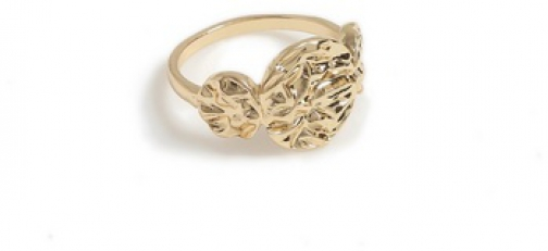 Dorothy Perkins Gold Finish Textured Ring