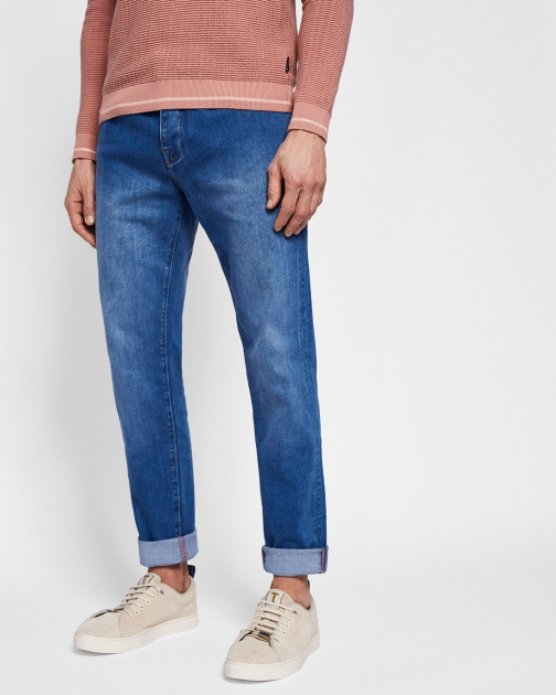 Ted Baker Light Wash Straight Fit Jeans