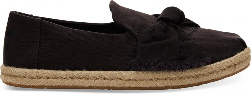 Toms Black Canvas With Knot Women's Deconstructed Alpargatas Shoes
