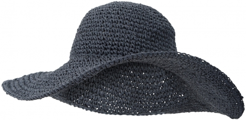 Mountain Warehouse 100% Straw Brimmed - Navy Hat