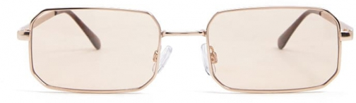 Forever21 Forever 21 Tinted Rectangle Gold/champagne Sunglasses