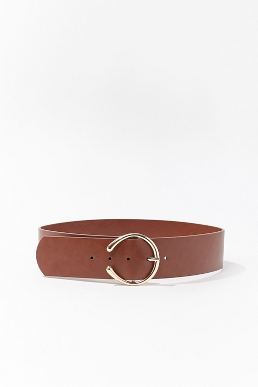 Forever21 Forever 21 Faux Leather Waist , Brown Belt