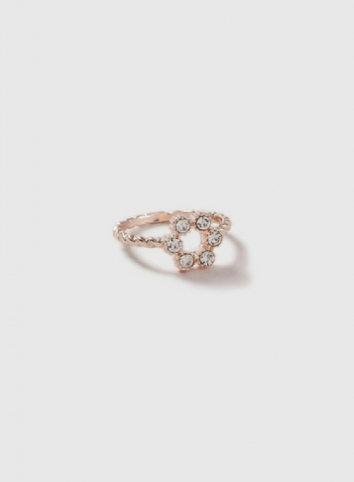 Dorothy Perkins Womens Rose Gold Look Crystal Flower - Multi Colour, Multi Colour Ring