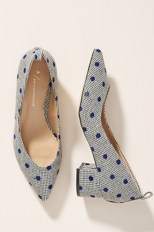 Anthropologie Pointed-Toe Block Heels - Assorted, Size Eu Heeled Sandal