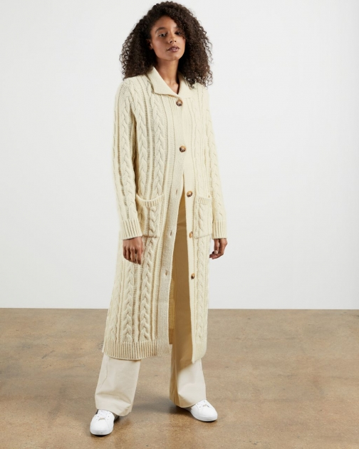 Ted Baker British Wool Cable Cardigan