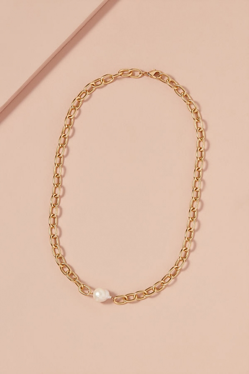 Anthropologie Baroque Pearl-Detailed Chain Chokers