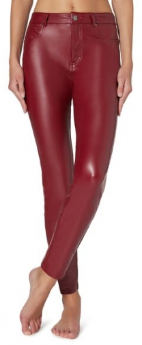 Calzedonia Thermal Leather-effect Pants Woman Red Size M Trouser