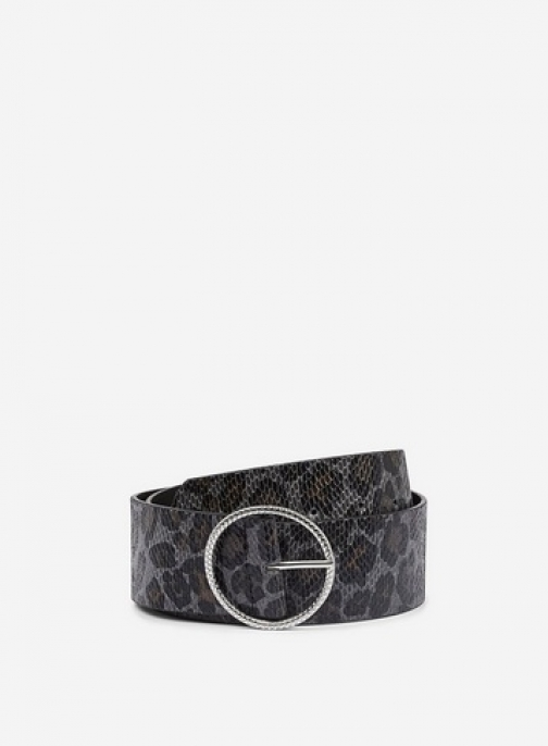 Dorothy Perkins Grey Leopard Print Wide Waist Belt