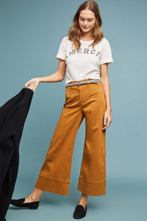 Anthropologie Pintucked Trousers Chino