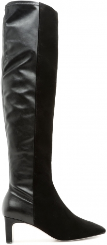 Schutz Shoes Donata - 5 Black Suede & Leather Boot