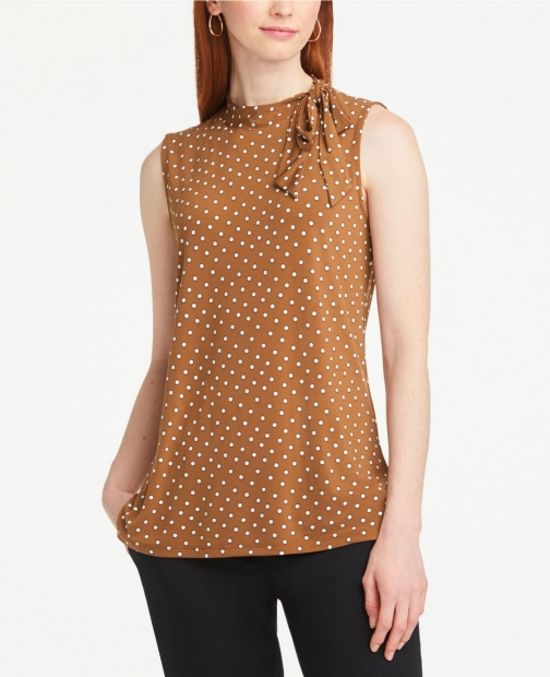 Ann Taylor Dotted Neck Shell Tie