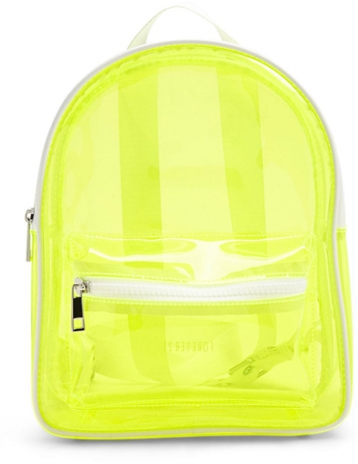Forever21 Forever 21 Translucent Structured , Lime Backpack