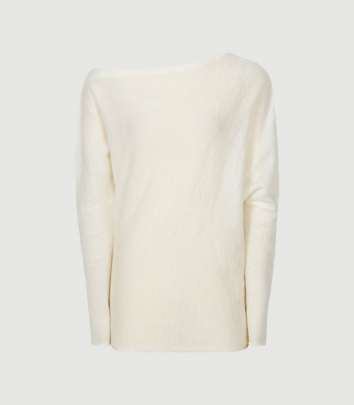 Reiss Holly - Off-the-shoulder White, Womens, Size XS Jumper