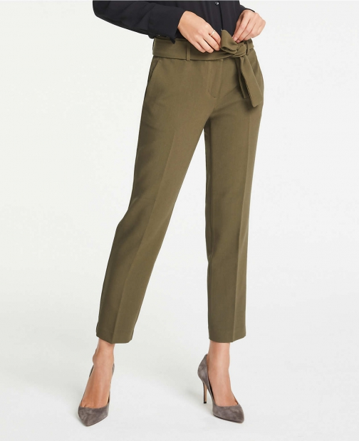 Ann Taylor The Ankle Pant With Waist Tie