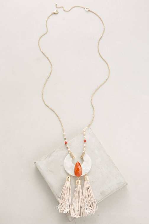 Anthropologie Calica Fringe Necklace