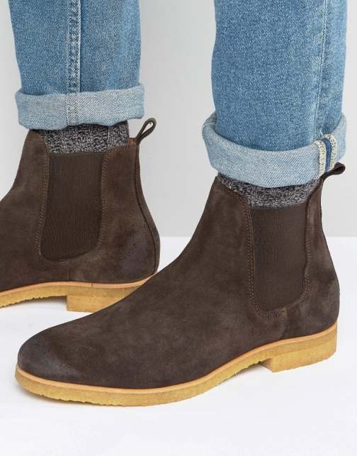 Shoe The Bear Gore Suede Chelsea Boot