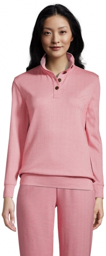 Lands' End Women's Long Sleeve Sport Knit - Lands' End - Red - XS Pullover