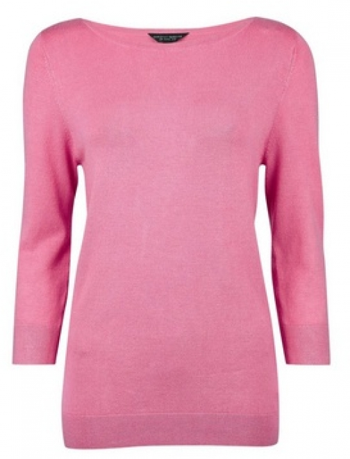 Dorothy Perkins Pink 3/4 Button Sleeve Jumper