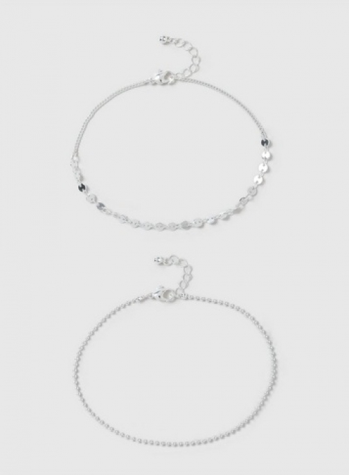 Dorothy Perkins Silver Ball And Chain Anklet