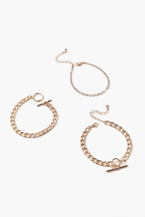Forever21 Forever 21 Toggle Chain Chunky , Gold Bracelet