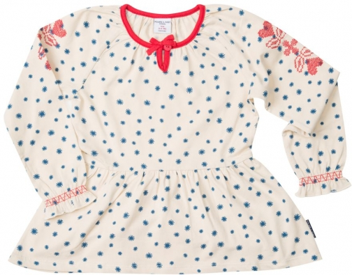 Polarn O. Pyret Girls Embroidered Top