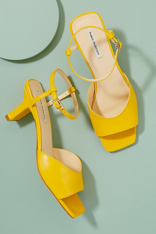 Anthropologie Fabio Rusconi Sunny Leather Heels Shoes