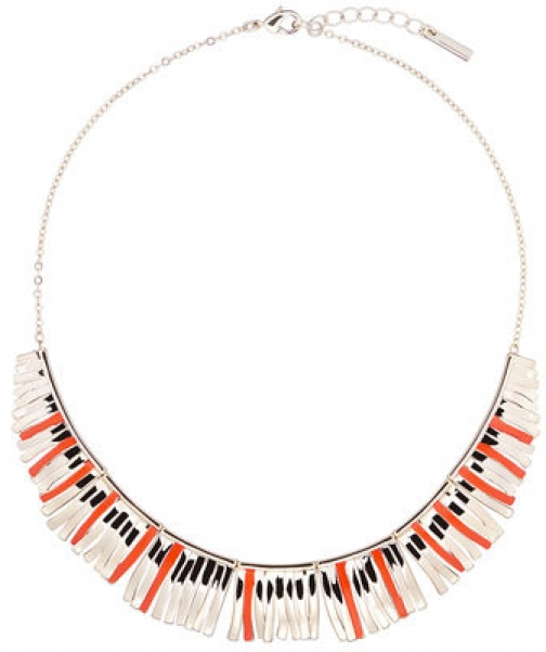 Karen Millen Palm Fringe Necklace