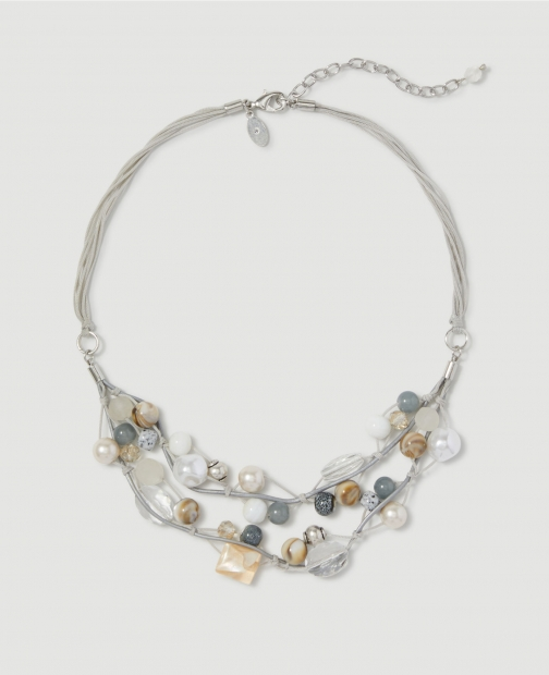 Ann Taylor Factory Beaded Statement Necklace