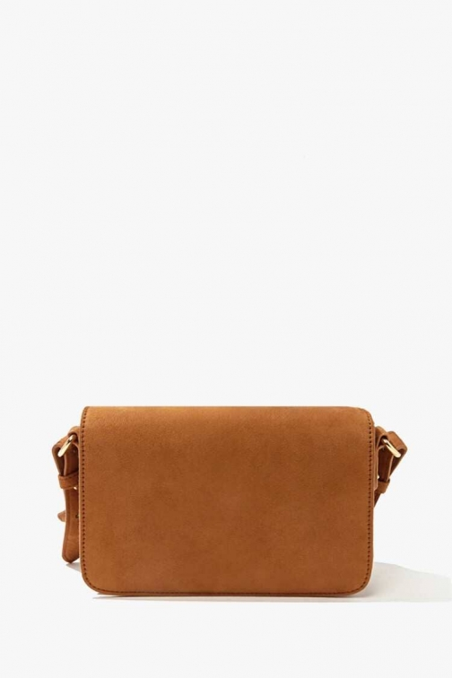 Forever21 Forever 21 Faux Suede , Tan Crossbody Bag