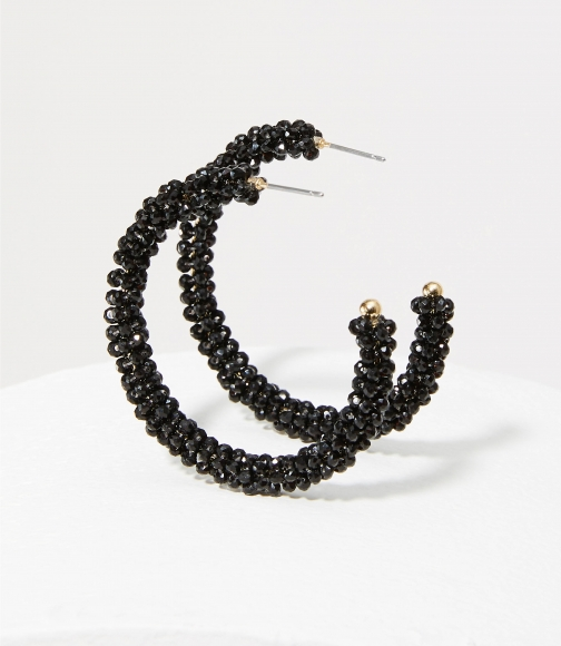 Loft Beaded Hoop Earring