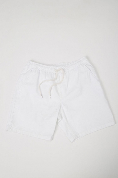 21 Men Drawstring Chino At Forever 21 , White Short