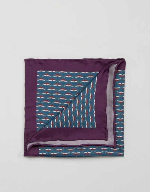 Original Penguin Printed Silk Pocket Square