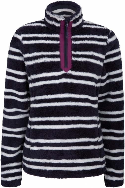 Mountain Warehouse Nessy Stripe Womens Fleece - Dark Blue