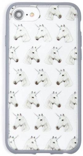 Forever21 Forever 21 Unicorn Print Phone For IPhone 6/7/8 , White/multi Case